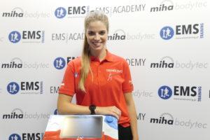Adriana, Certyfikowany trener EMS z licencją międzynarodową i trener przygotowania motorycznego